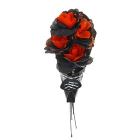 Букет цветов «Скелет», цвет оранжевый