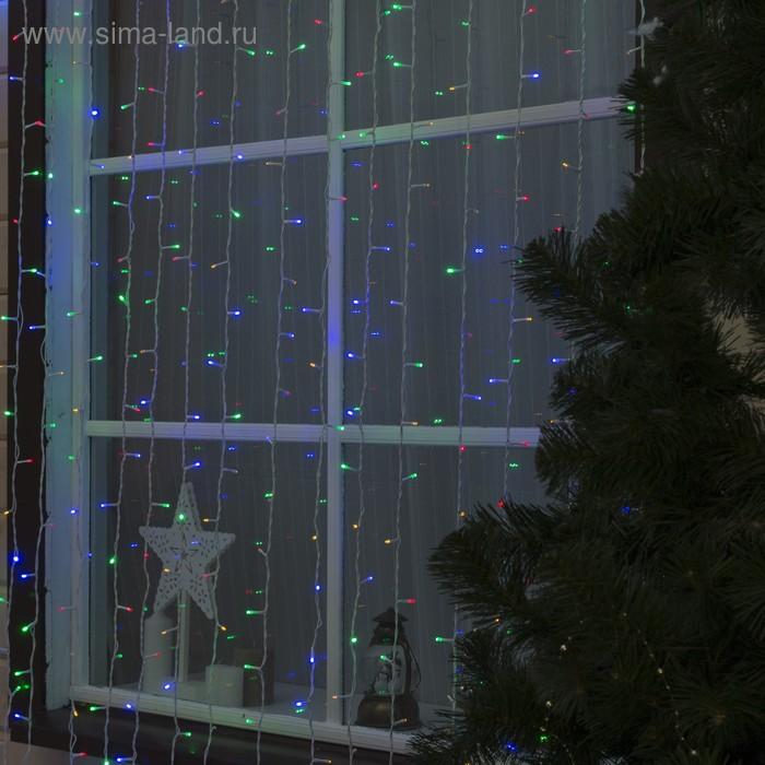 """Гирлянда """"Занавес"""" улич. УМС, Ш:2 м, В:6 м, Н.Б. 3W LED-1440-220V, БЕЗ контр. МУЛЬТИ"""