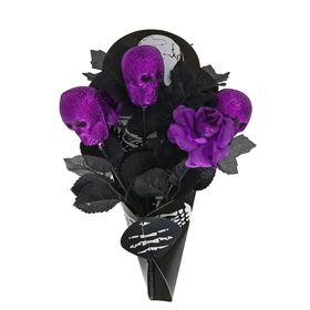 Букет «Скелет», цвет фиолетовый