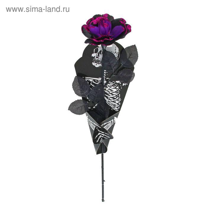 """Цветок """"Скелет"""", цвет фиолетовый"""