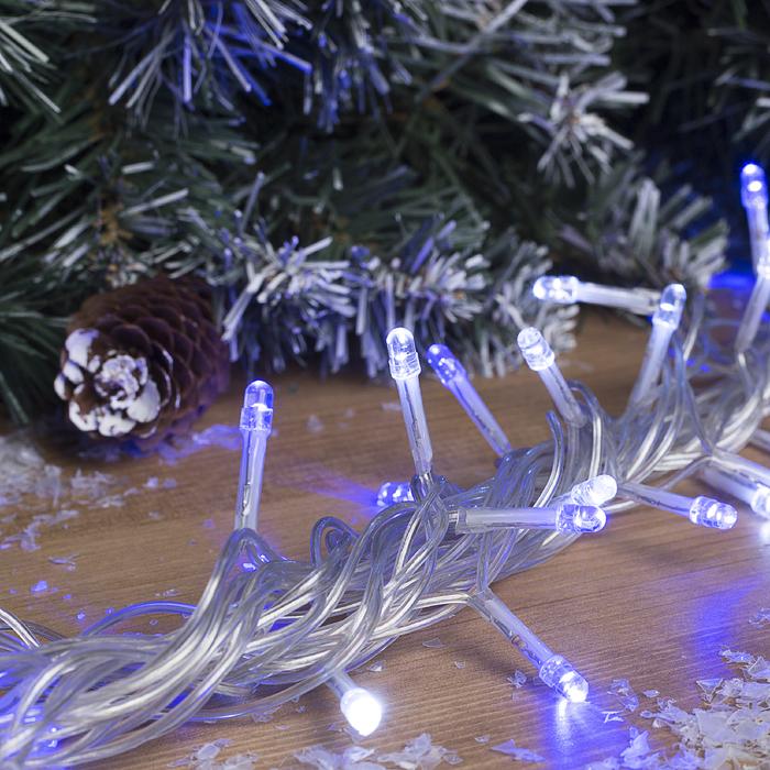 """Гирлянда """"Нить"""" уличная 5 м, LED-52-220V, моргает, свечение бело-синее"""