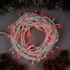 """Гирлянда """"Нить"""" 10 м , IP44, УМС, белая нить, 100 LED, свечение красное, 220 В в Донецке"""