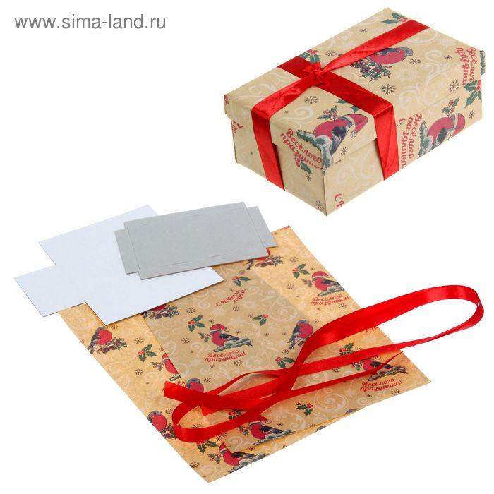 """Набор для декорирования подарочной коробки """"Снегири"""""""