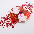 """Festive confetti """"Tender love"""" hearts colored two sizes 14гр"""