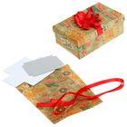 Подарочная коробка «Новогодние марки», набор для декора, 21 × 30 см