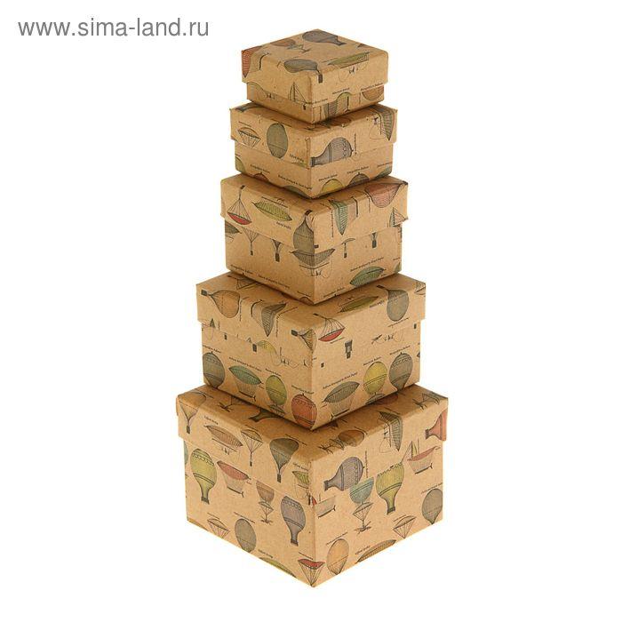 """Набор коробок 5 в 1 """"Воздушные шары"""", крафт"""