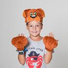 """Карнавальный костюм """"Собачка"""", 2 предмета: шапка-маска, лапы"""