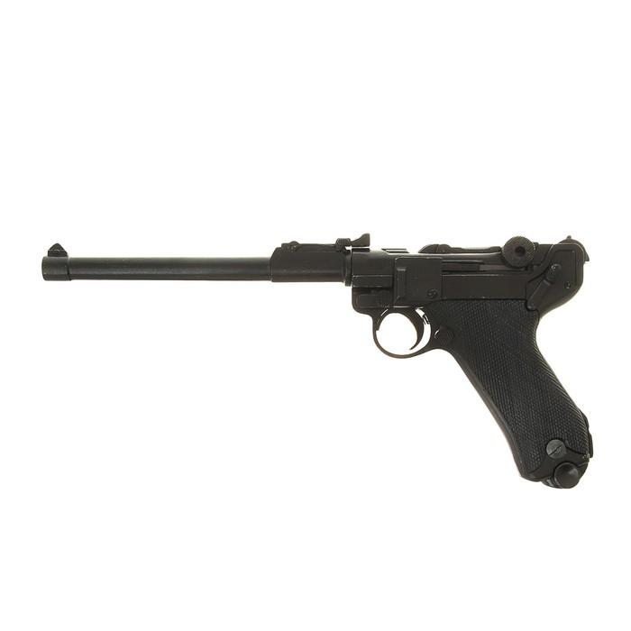 Макет самозарядного пистолета Люгера удлиненный, Парабеллум, 9 мм, Германия, 1900 г