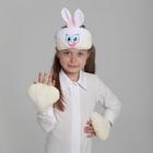 """Карнавальный костюм """"Зайчик"""", 2 предмета: шапка-маска, лапы"""