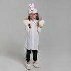 """Карнавальный костюм """"Зайчик"""", 2 предмета: шапка-маска, лапы - фото 105446304"""