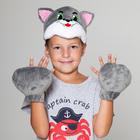 """Карнавальный костюм """"Волк"""", 2 предмета: шапка-маска, лапы"""