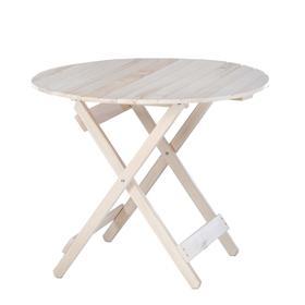Стол складной, 90×90×75см, из липы, круглый