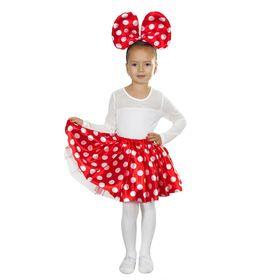 Карнавальный набор «Милашка», ободок, юбка, 3-6 лет, цвет красный