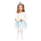"""Карнавальный костюм """"Снежинка"""", ободок, жилетка, юбка, 3-6 лет"""