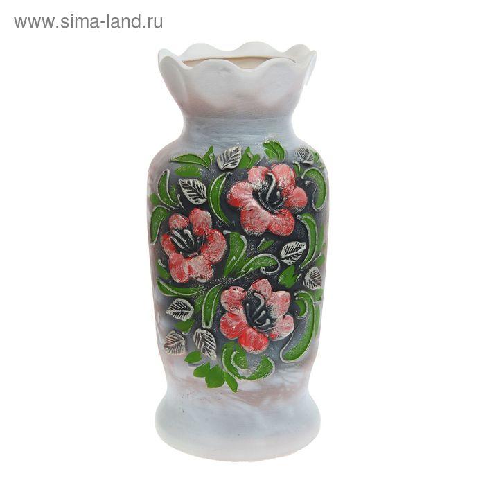 """Ваза напольная """"Люда"""" малая, цветы"""