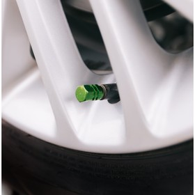 Колпачки на вентиль TORSO, зелёные, набор 4 шт.