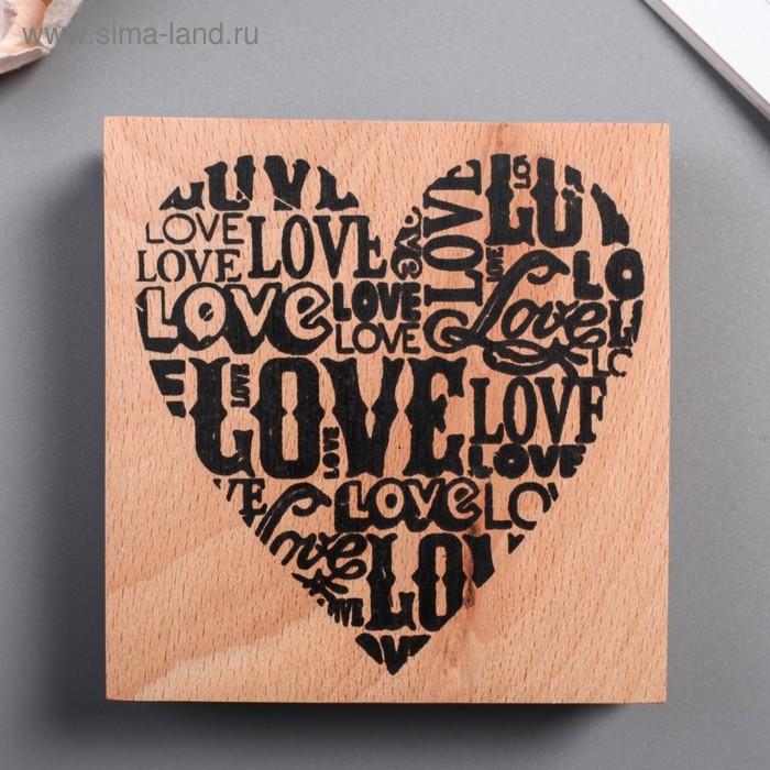 "Печать ""Сердце Love"""