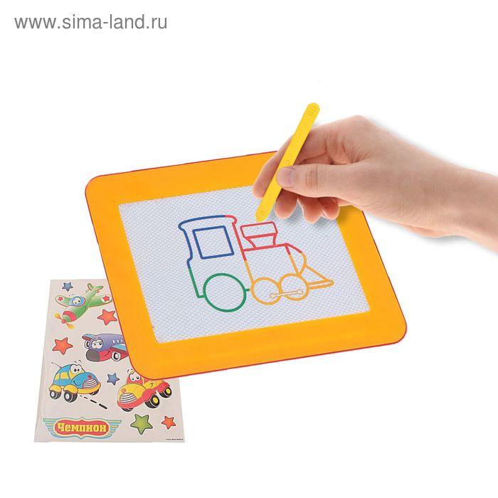 """Доска для рисования с цветной магнитной крошкой """"Транспорт"""", планшет, МИКС"""