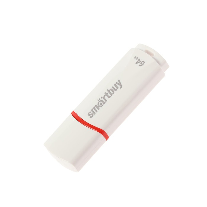 Флешка Smartbuy Crown White, 64 Гб, USB2.0, чт до 25 Мб/с, зап до 15 Мб/с, белая