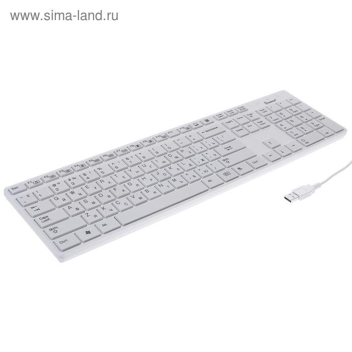 Клавиатура Smartbuy 204 Slim, USB, белая