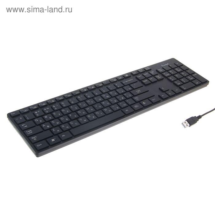 Клавиатура проводная Smartbuy 204 Slim, USB, черная