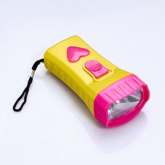 Фонарик FT-9918 Heart, 1 диод, кнопка-сердце, микс