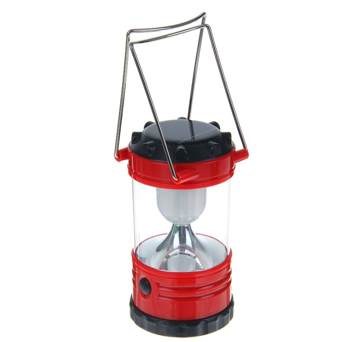 Фонарик переносной «Лампа», 1 диод, от солнечной батареи и сети, микс
