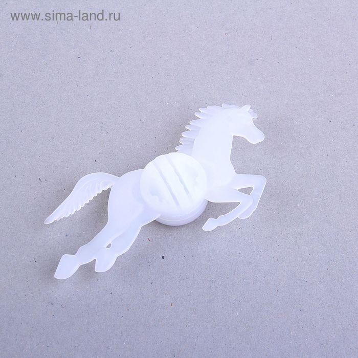 "Фонарик велосипедный пластик ""Конь"" 2х7,5х13 см  микс"
