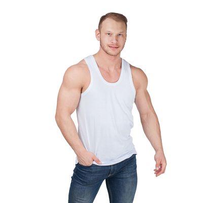 Майка мужская, цвет белый, размер 48