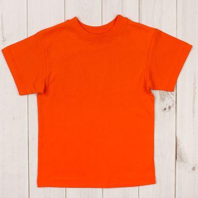 Футболка детская, рост 92 см, цвет оранжевый Н004