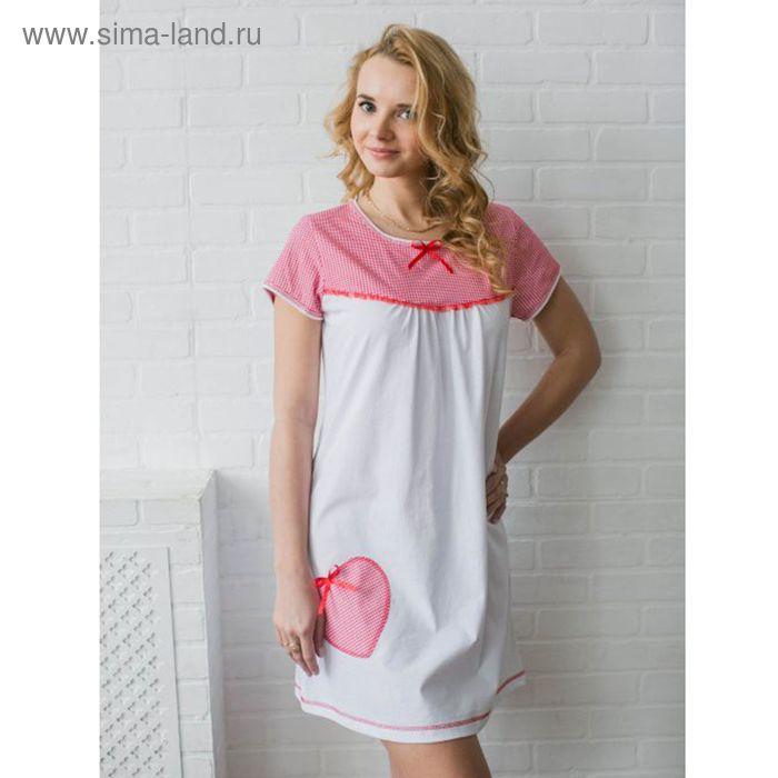 Сорочка женская Сердце МИКС, р-р 46
