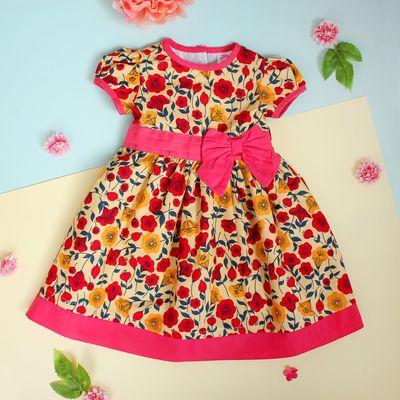 """Платье для девочки """"Красный мак"""", рост 74-80 см (1 год)"""