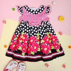 """Платье для девочки """"Малиновые цветы"""", рост 74-80 см (1 год), цвет чёрный"""