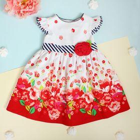 """Платье для девочки """"Лето"""", рост 74-80 см (1 год), цвет красный"""