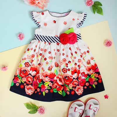 """Платье для девочки """"Лето"""", рост 80-86 см (1,5 года), цвет тёмно-синий"""