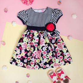 """Платье для девочки """"Цветущий сад"""", рост 74-80 см (1 год)"""