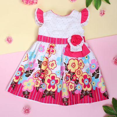 """Платье для девочки """"Незабудка"""", рост 74-80 см (1 год), цвет розовый"""