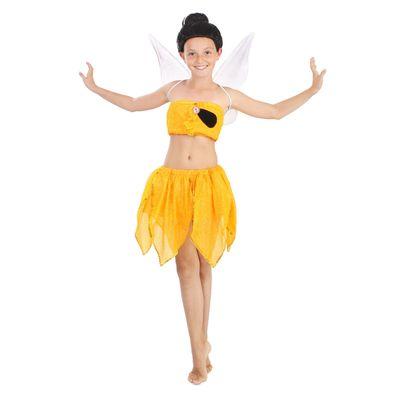 Карнавальный костюм «Фея Иридесса», (топ, юбочка, крылышки, брошь, парик), рост 134