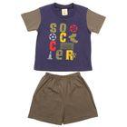 Костюм для мальчика (футболка +шорты), рост 86-98 см (1-2 года), цвет тёмно-синий B173