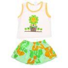 Комплект для девочки (майка+юбка), рост 80-86 см (18 мес.), цвет зелёный G440