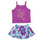 Комплект для девочки (майка+юбка), рост 74-80 см (12 мес.), цвет фиолетовый G440
