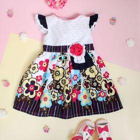 """Платье для девочки """"Незабудка"""", рост 74-80 см (1 год), цвет тёмно-синий"""