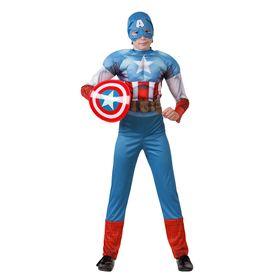 Детский карнавальный костюм «Капитан Америка», текстиль, размер 28, рост 110 см