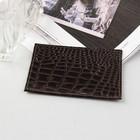 Футляр для карточки, коричневый крокодил