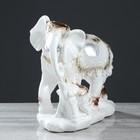 """Сувенир """"Семья слонов"""" 26 см, белый - фото 1701197"""