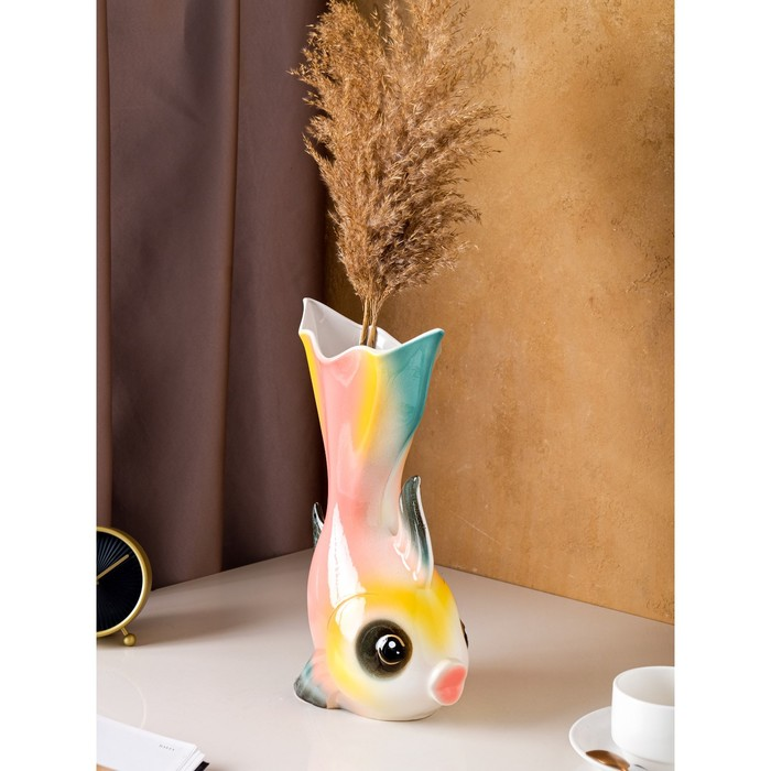 "Ваза ""Золотая рыбка"" цветная"