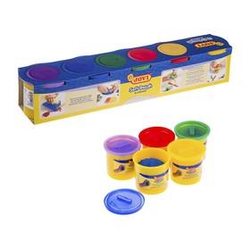 Пластилин на растительной основе JOVI, набор 5 цветов, 550 г, тесто в банках, для малышей