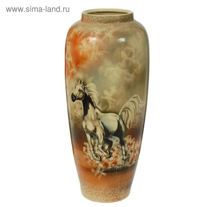 """Ваза напольная """"Дана"""" скачущая лошадь"""