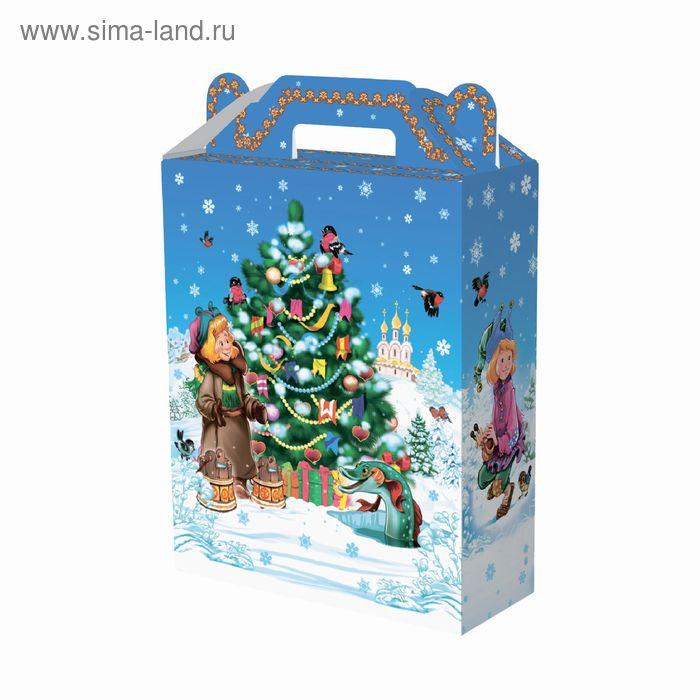 """Подарочная коробка """"Емеля"""" большая, сборная, 16.8х7х25 см"""