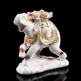 """Сувенир """"Слон"""" бело-золотой, 25 см"""